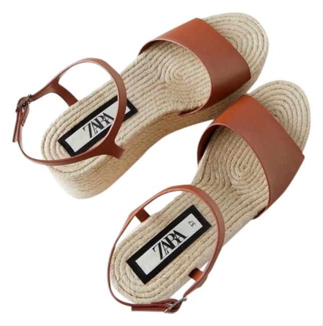 Item - Tan Jute Platform Wedges Size US 10 Regular (M, B)