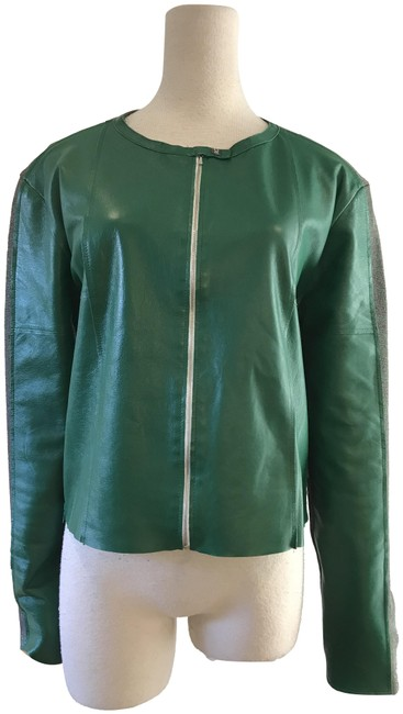 Item - Green Knit Zip Up Jacket Size 8 (M)