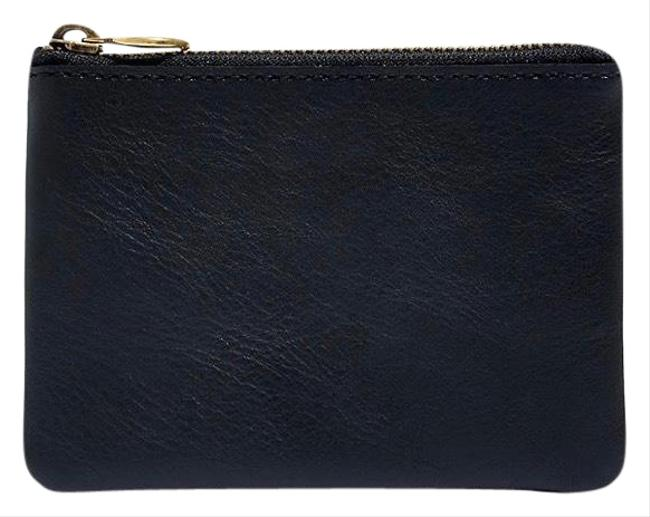 Item - Black The Leather Pouch Wallet