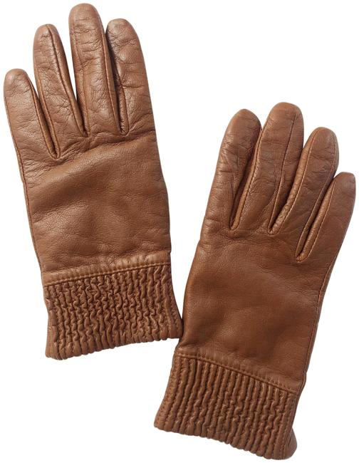 Item - Brown Women's Leather Smart Tech Gloves Lined
