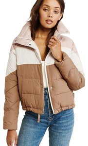 Abercrombie & Fitch Color Block Wind Resistant Water Resistant Jacket Light Puffer Coat
