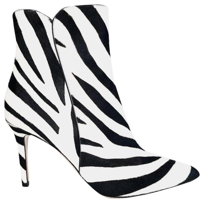 Item - White Levy Pony Zebra Calf Hair 85mm Zip Ankle Boots/Booties Size EU 37 (Approx. US 7) Regular (M, B)