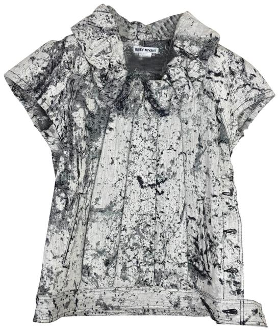 Item - Black White Gray Structured Tunic Size 12 (L)
