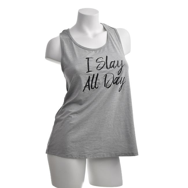 C9 Champion Grey Athletic Sports Stretchy Tank I Slay All Day Activewear Top Size 10 (M) C9 Champion Grey Athletic Sports Stretchy Tank I Slay All Day Activewear Top Size 10 (M) Image 1