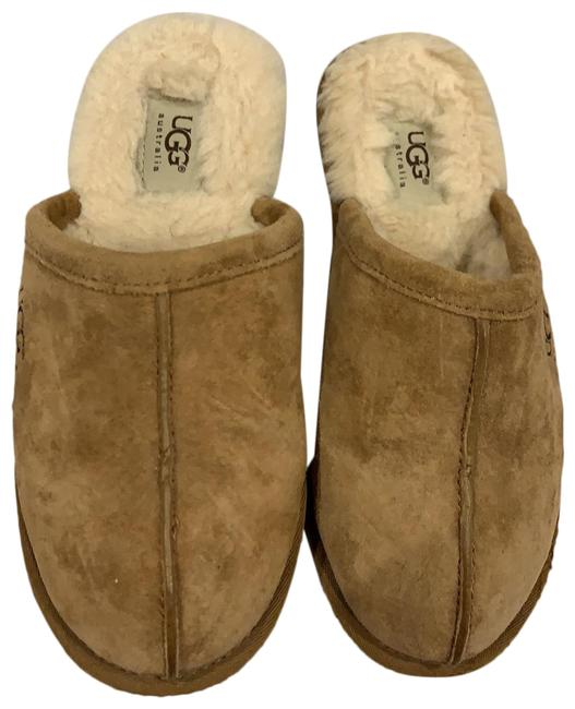 Item - Tan Suede Women's Slippers Mules/Slides Size US 5 Regular (M, B)