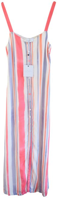 Item - White Pink Purple L Sandy Sunset Stripe Revolve Long Casual Maxi Dress Size 00 (XXS)