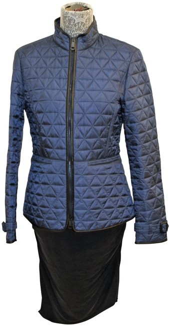 Item - Blue Quilted Nylon with Trim Jacket Size 8 (M)
