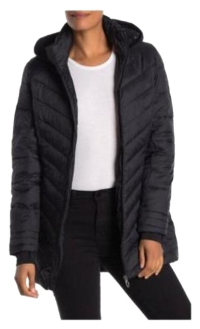 Item - Black Boundless Hooded Puffer Jacket Style #72h66002-01 Coat Size 14 (L)