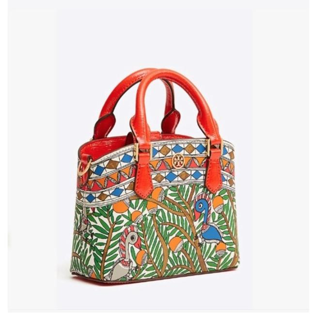 Item - Robinson Mini Bag Top-handle Multi Color Green Orange Blue Leather Tote
