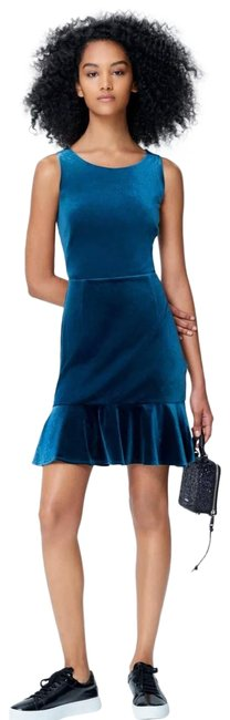 Item - Blue Velvet Teal Mid-length Night Out Dress Size 0 (XS)