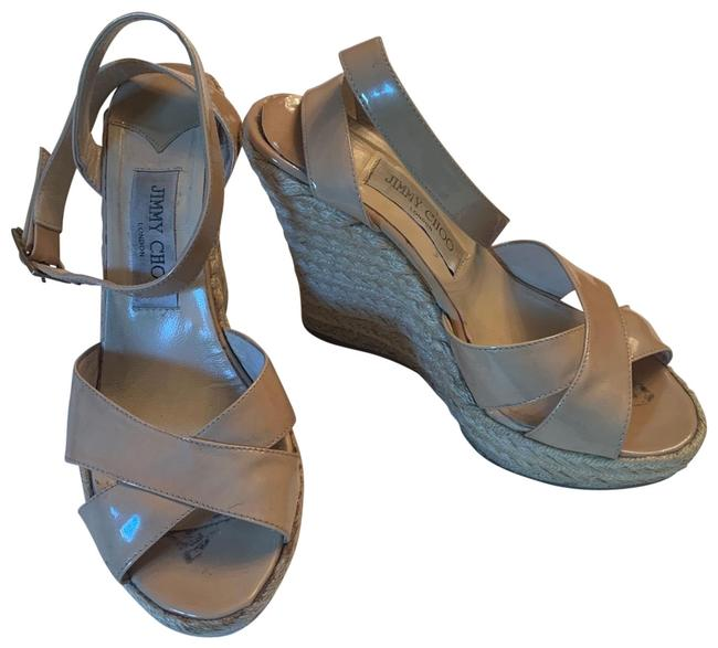 Item - Nude Patent None Wedges Size EU 38 (Approx. US 8) Regular (M, B)