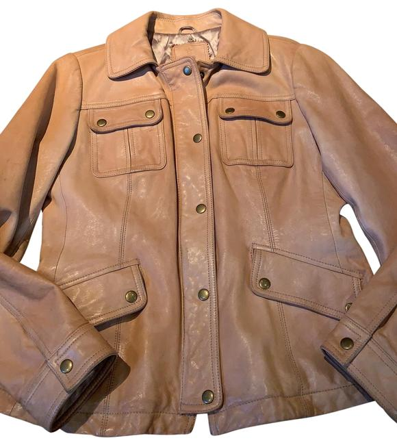 Item - Tan Crop Motorcycle Style Jacket Size 8 (M)