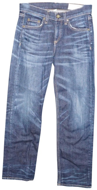 Item - Blue Medium Wash Crop Straight Leg Capri/Cropped Jeans Size 25 (2, XS)