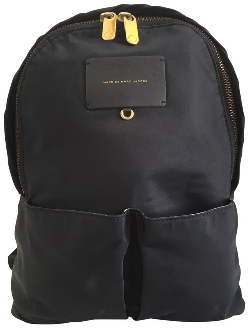 Item - Front Pocket Laptop Black Nylon Backpack