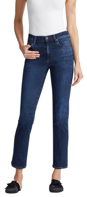 Item - Marisol Dark Rinse Cara High Cigarette Ankle Relaxed Fit Jeans Size 00 (XXS, 24)