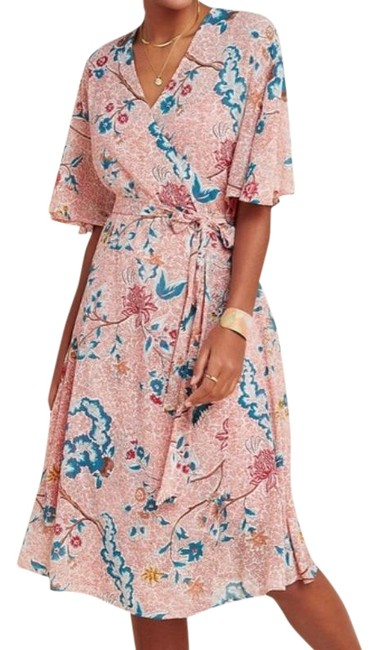 Item - Red Pink Maeve Adelaide Wrap Motif Mid-length Casual Maxi Dress Size 12 (L)