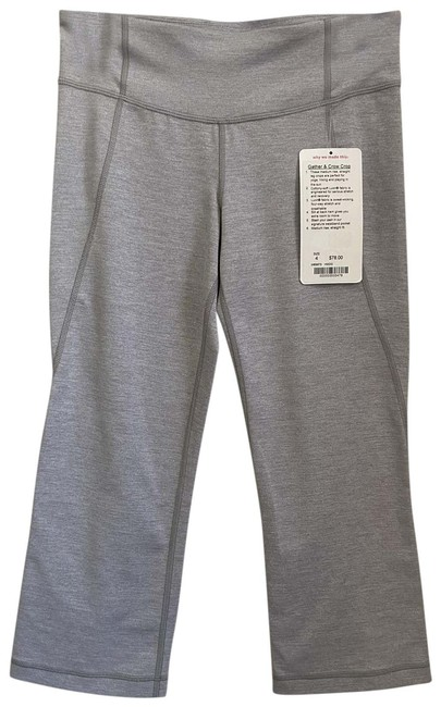 Item - Gray Long Crop Msrp 110 Activewear Sportswear Size 4 (S, 27)