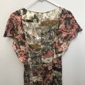 Zara Brown Multi Floral Print Button Front Mid-length Short Casual Dress Size 4 (S) Zara Brown Multi Floral Print Button Front Mid-length Short Casual Dress Size 4 (S) Image 8