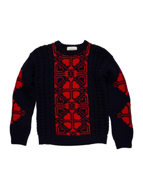 Item - Men Size 46it Or Small Blue Japan /Live Red Sweater
