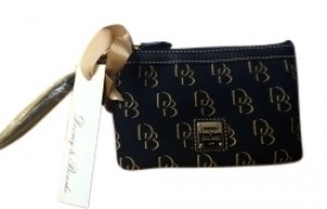 Dooney & Bourke Wristlet in Black and Brown