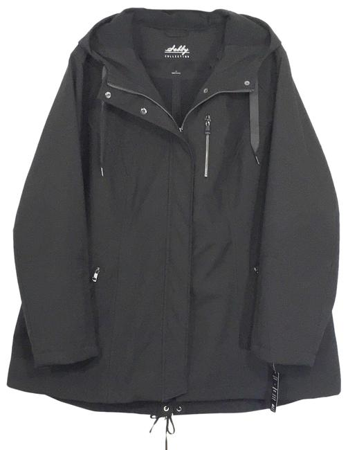 Item - Black Water Resistant Windproof Hooded Soft-shell Jacket Coat Size 26 (Plus 3x)