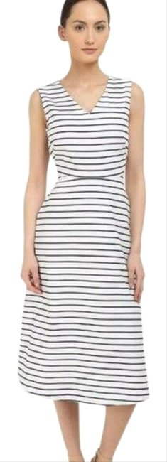 Item - White Broome Street Bow Back Mid-length Short Casual Dress Size 0 (XS)