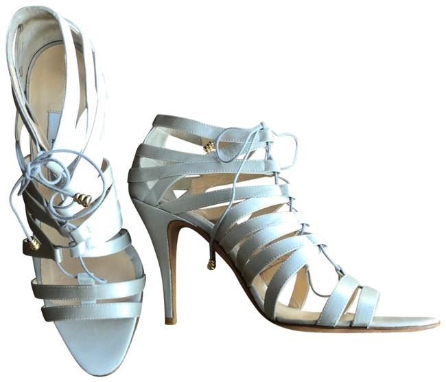 Item - Silver Cage Lace Up Pumps Size EU 38.5 (Approx. US 8.5) Regular (M, B)