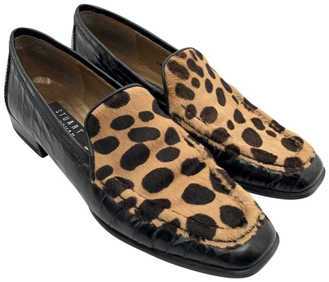 Item - Black Leopard Print Pony Hair Loafers Flats Size US 7 Narrow (Aa, N)