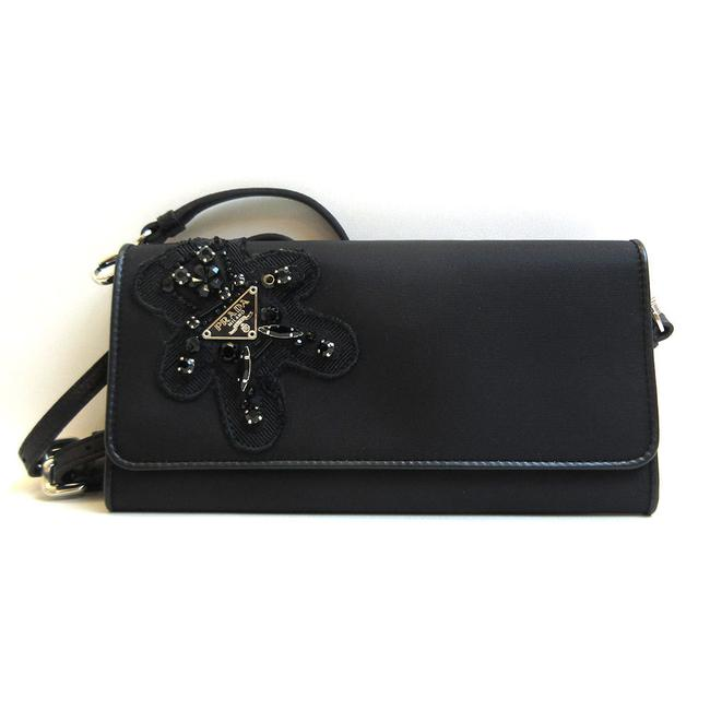 Item - Black Shoulder Nero Evening Bear Bijou Ladies Nylon Wallet