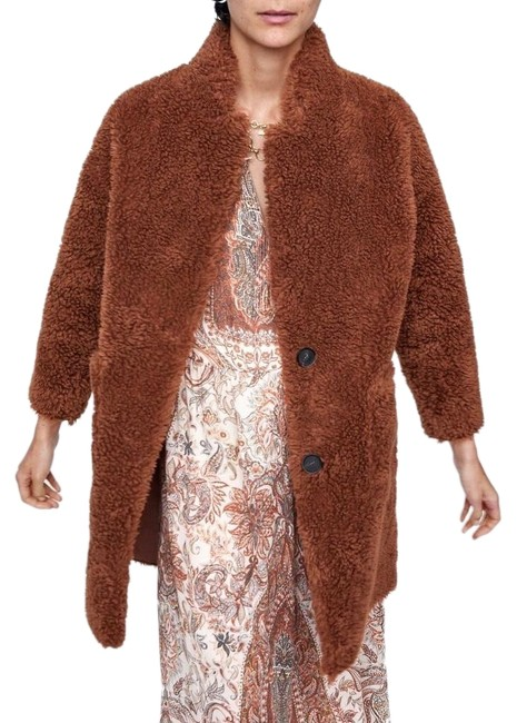 Item - Brown Double Faced Faux Coat Size 8 (M)