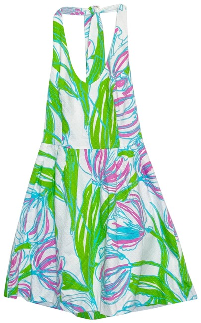 Lilly Pulitzer Resort White Ross Ring The Bell Short Casual Dress Size 0 (XS) Lilly Pulitzer Resort White Ross Ring The Bell Short Casual Dress Size 0 (XS) Image 1