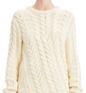 Item - Cable Knit Cream Tan Sweater
