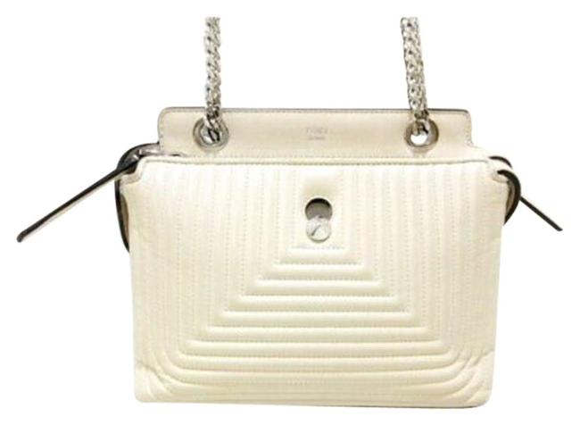 Item - Quilted Small Dot Com Click Satchel White Lambskin Leather Shoulder Bag