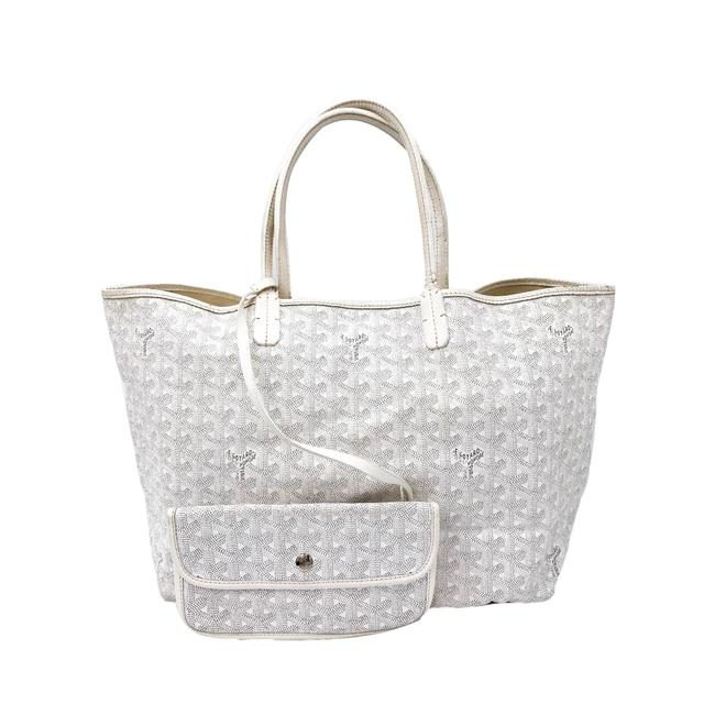 Item - ine Saint Louis Pm White Coated Canvas Tote