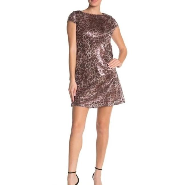Item - Brown/ Black Champ/Sil Style # 263831 Short Night Out Dress Size 12 (L)