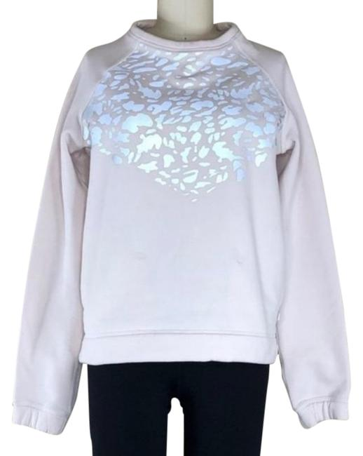 Item - Pink Silver Snapshot Crew Leopard Cheetah Sweater Activewear Top Size 6 (S)