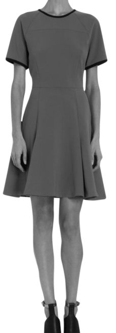 Item - Gray Black Icb New Contrast By Short Work/Office Dress Size 12 (L)