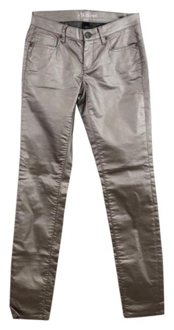 Item - Gray Silver Coated Siren Low Rise Skinny Jeans Size 25 (2, XS)