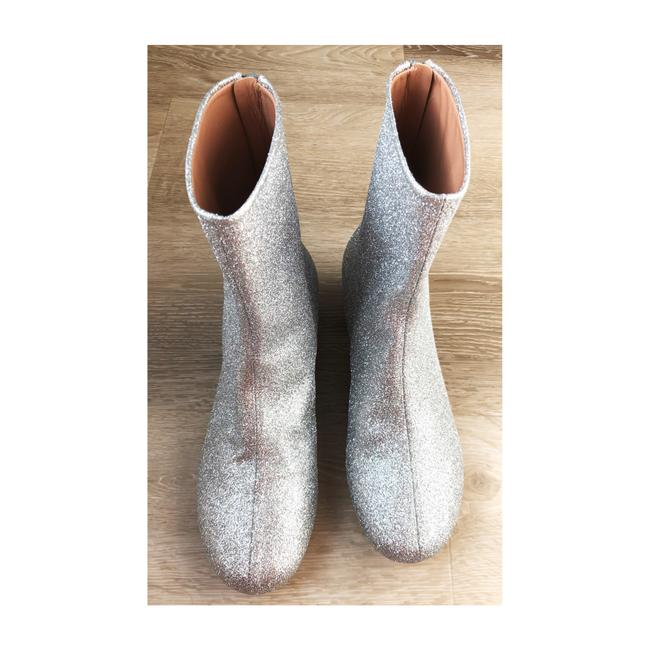 Item - Silver Sparkly Ankle Boots/Booties Size EU 37 (Approx. US 7) Regular (M, B)