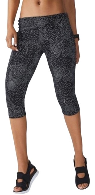 Item - Black White Hamilton Sweatpant Fold Over In Constellation Print Activewear Bottoms Size 2 (XS, 26)