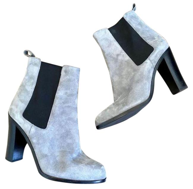 Item - Gray Suede Stretch-gore Heeled Chelsea Boots/Booties Size EU 38 (Approx. US 8) Regular (M, B)