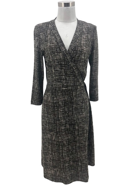 Item - Brown N1202 Bcbg Max Azria Designer Medium 10 3/4 Sleeve Mid-length Formal Dress Size 8 (M)
