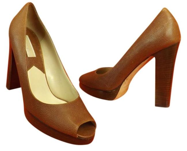 Item - Brown New Luggagge Destressed Leather Classic Italy Pumps Size US 10 Regular (M, B)