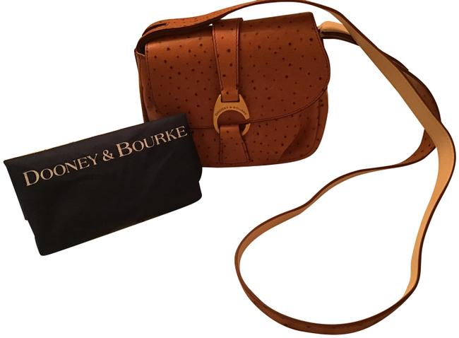 Dooney & Bourke Small Flap Natural Ostrich Leather Cross Body Bag Dooney & Bourke Small Flap Natural Ostrich Leather Cross Body Bag Image 1