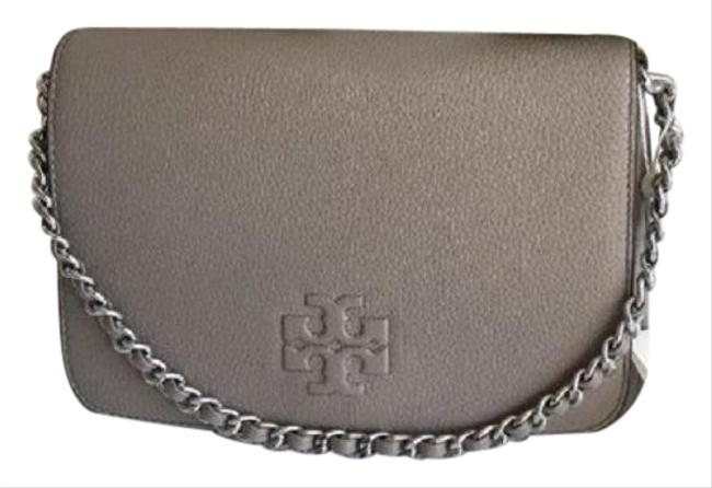 Item - Thea Clutch Gray Leather Cross Body Bag