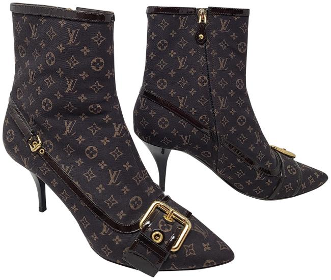 Item - Brown Lv Monogram Idylle Pointed-toe Boots/Booties Size EU 40 (Approx. US 10) Regular (M, B)