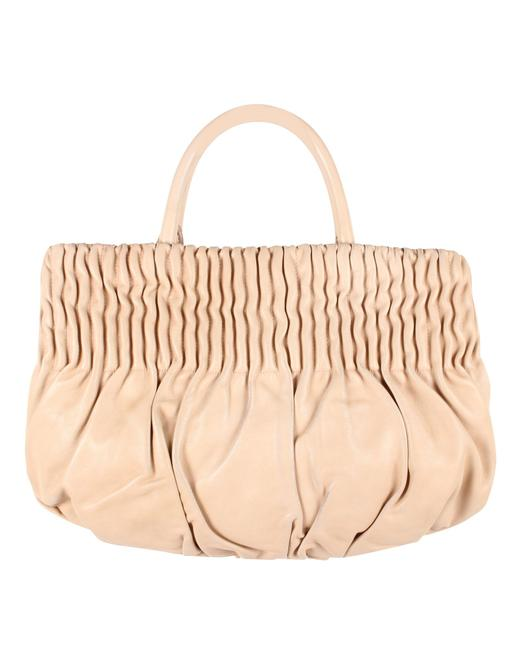 Item - Baby Napa Gaufre Hand Pink Lambskin Leather Tote