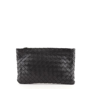 Bottega Veneta Pouch Leather Black Clutch
