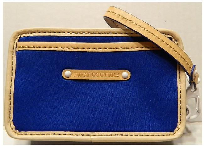 Item - Rare 2011 Blue Double Royal Blue-light Natrl White Leather-nylon Wristlet