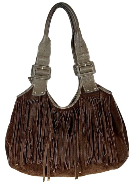 Item - Belle Fringed Brown Suede Leather Tote